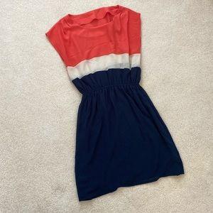 Sleeveless colourblock dress (OS)